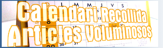 calendari recollida articles voluminosos